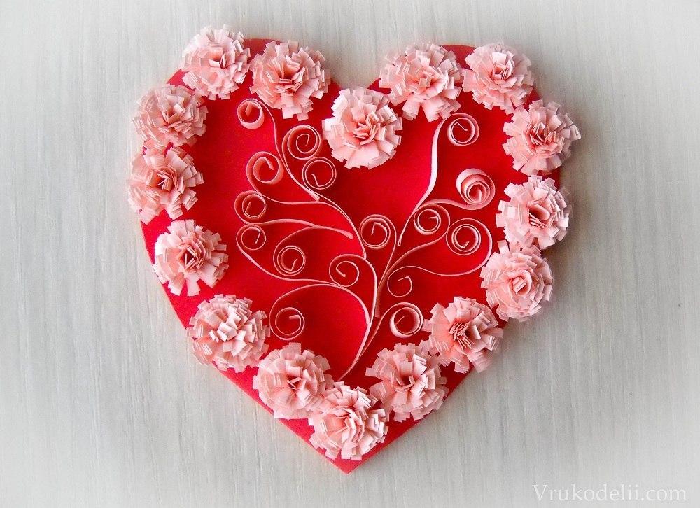 Красиво сделать валентинку своими руками из